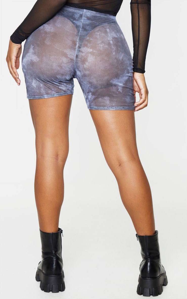 Shape - Short-legging en mesh tie & dye gris 3