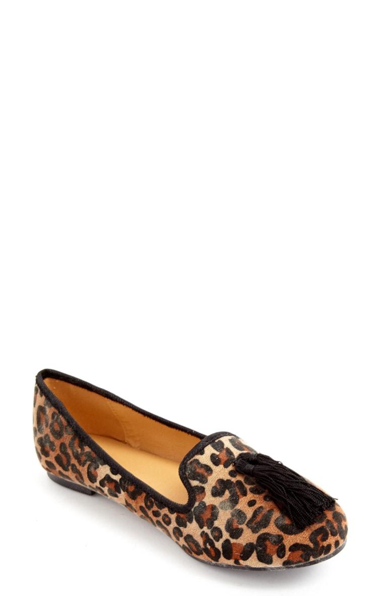 Alys Leopard Tassel Slipper  2
