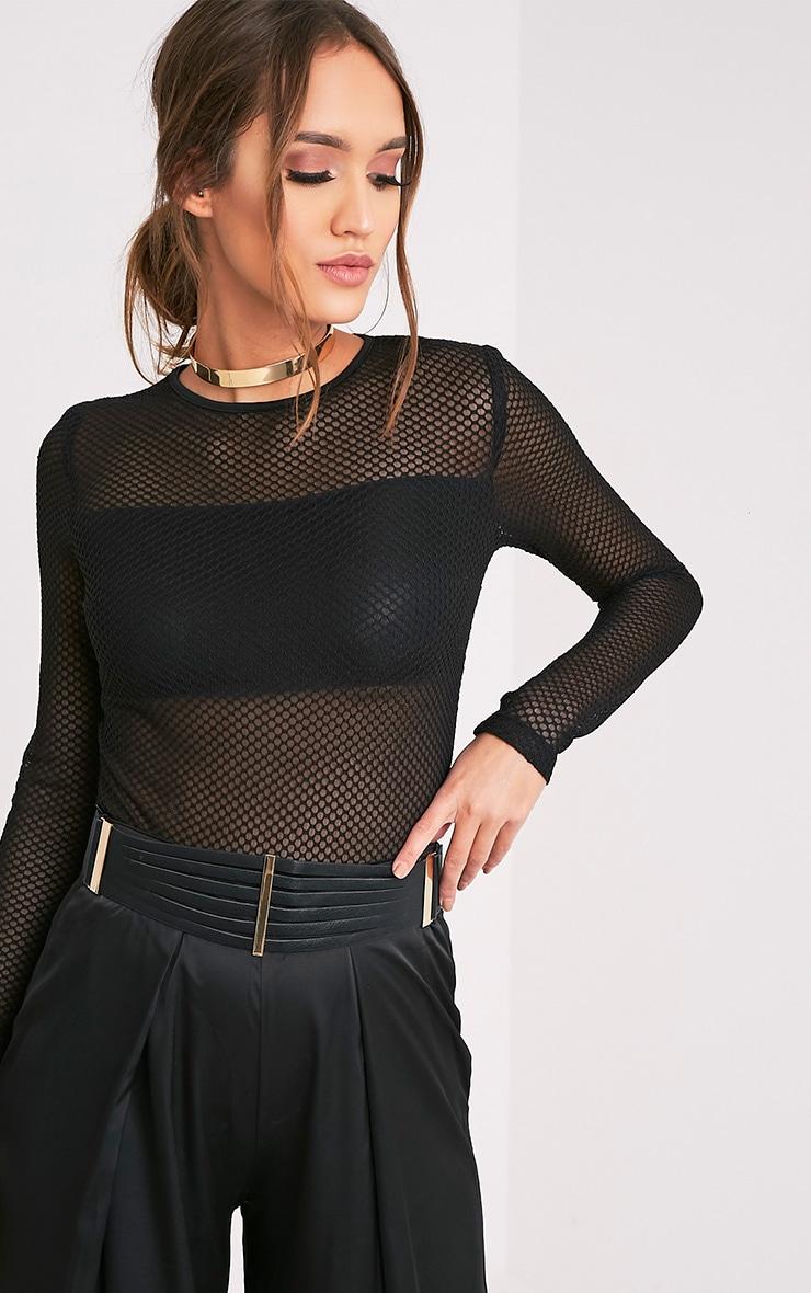 Ilena Black Multi Strap Detail Belt 1