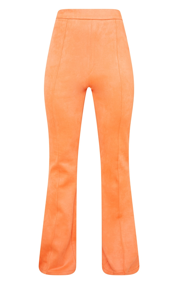 Coral Bonded Suede Flare Pants 5
