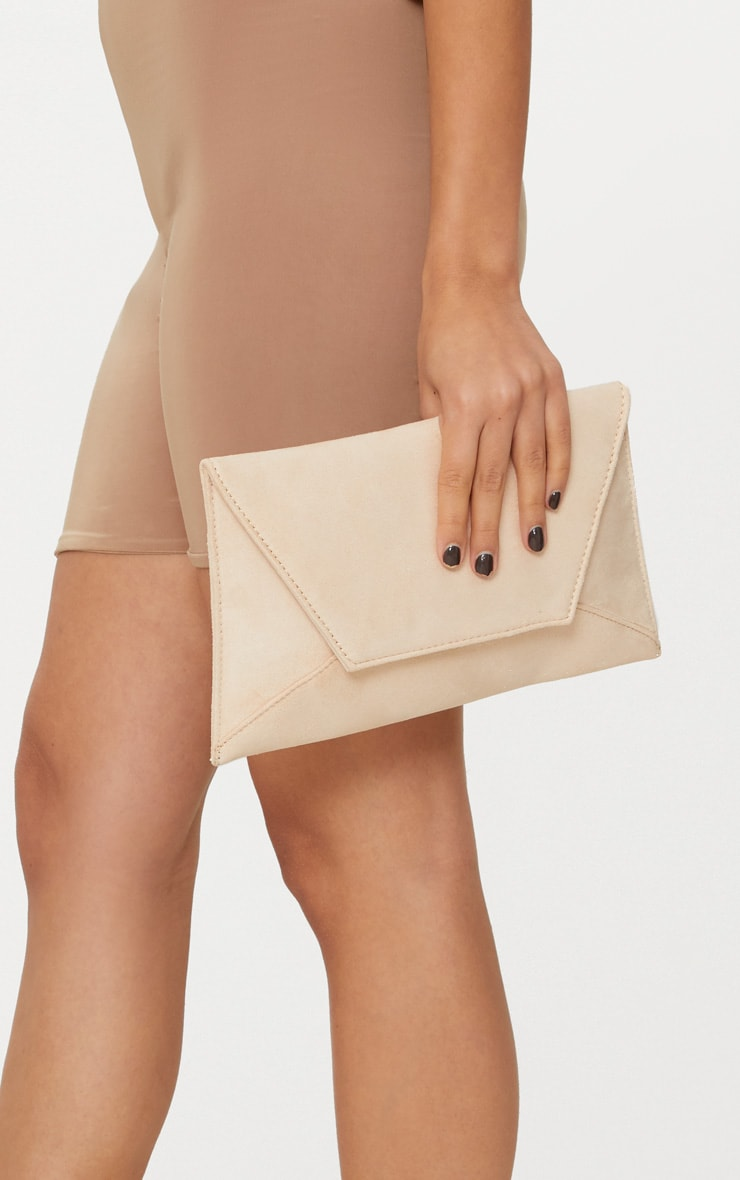 Nude Envelope Clutch Bag 2