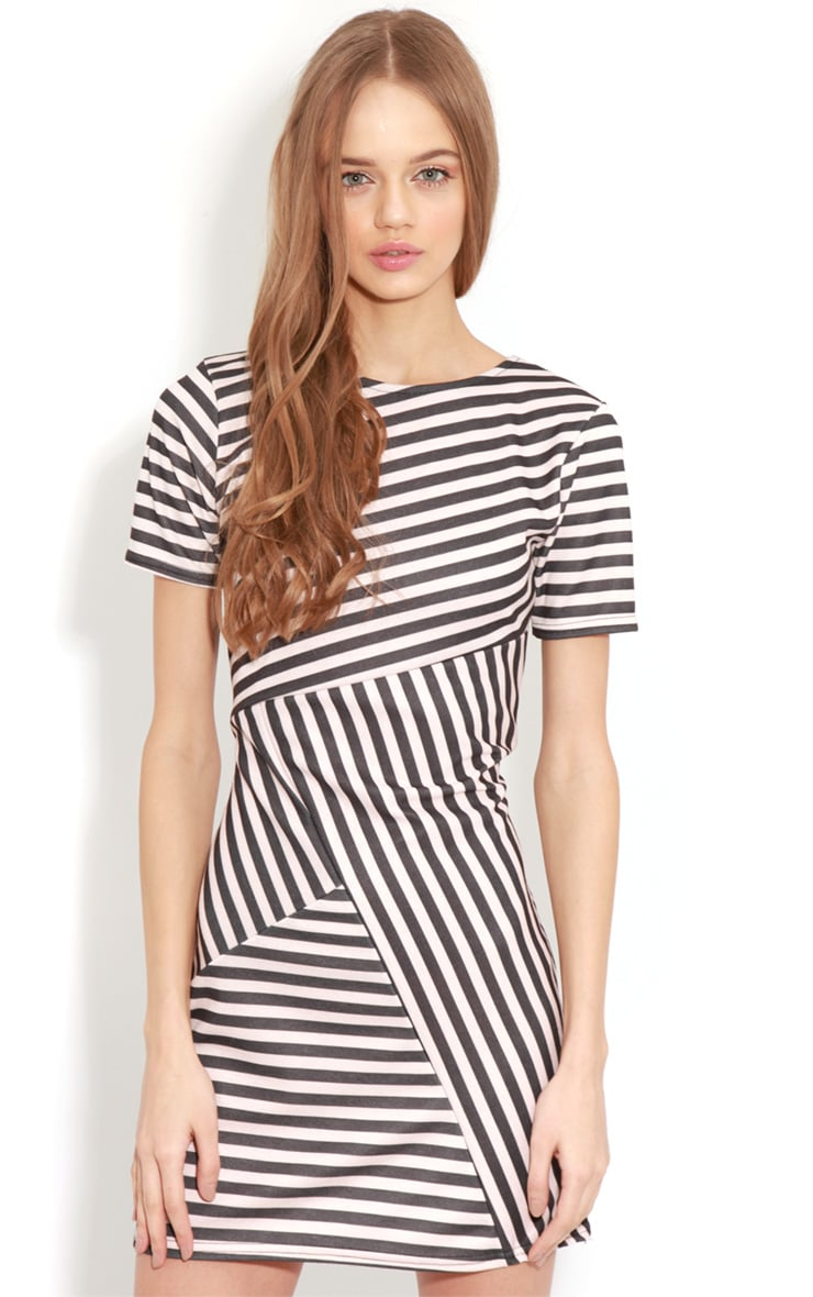Electra Pink Stripe Bodycon Dress 1
