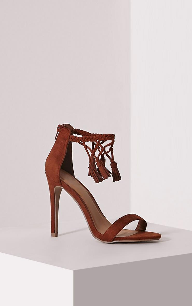 Dulce Mocha Tassel Tie Heeled Sandals 3