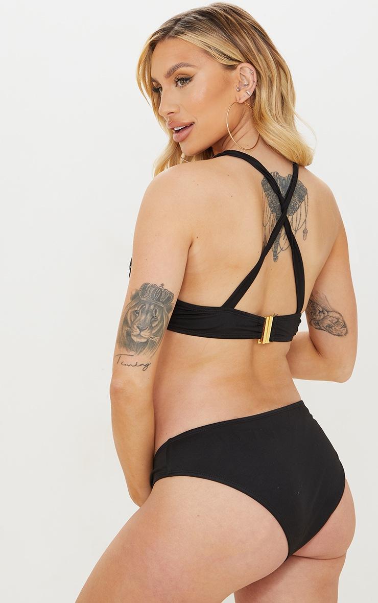 Maternity Black Underwire Halterneck Bikini Top 2
