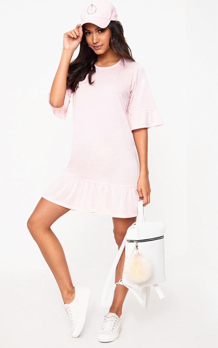 Pink Jersey Frill Hem Shift Dress 4