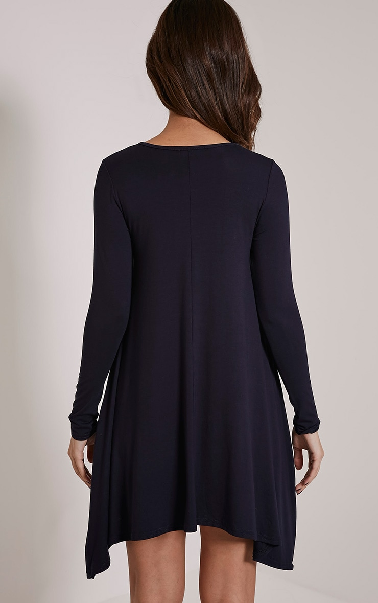 Basic Navy Swing Dress 2