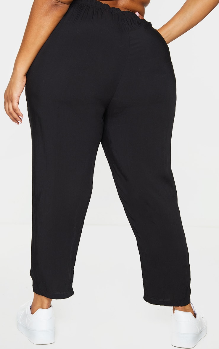 Plus Black Casual Trousers 3