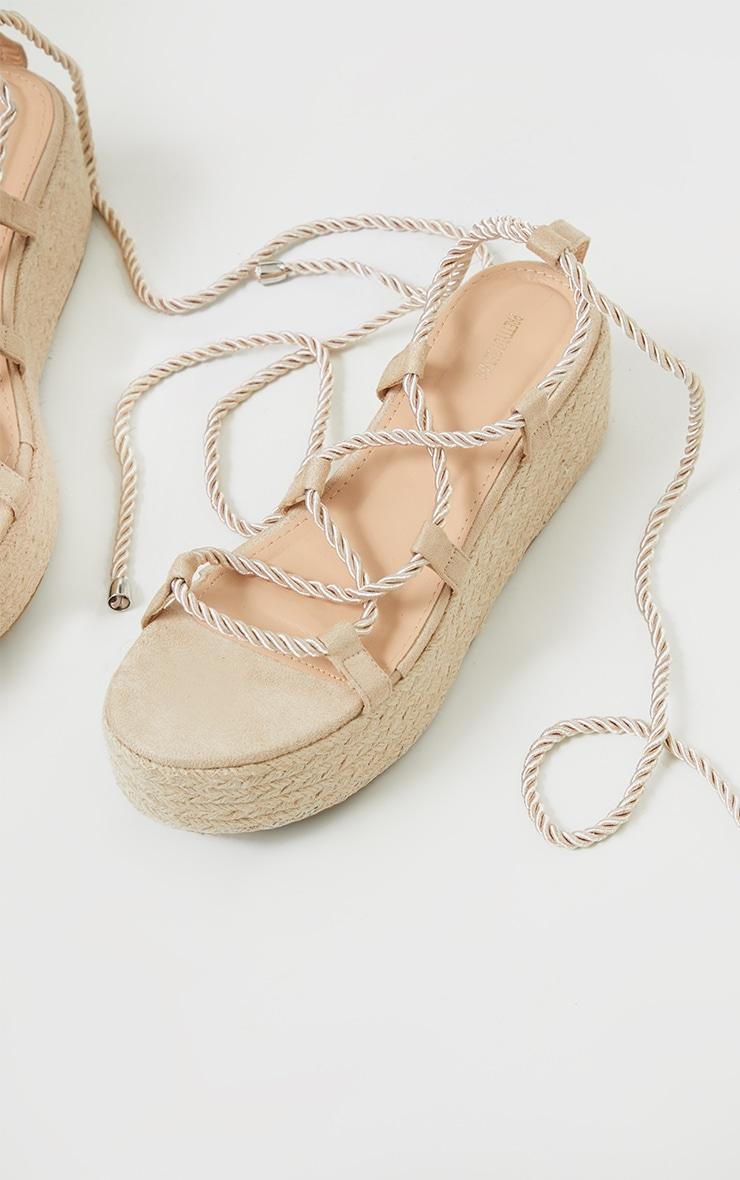 Natural Rope Flatform Sandals 4