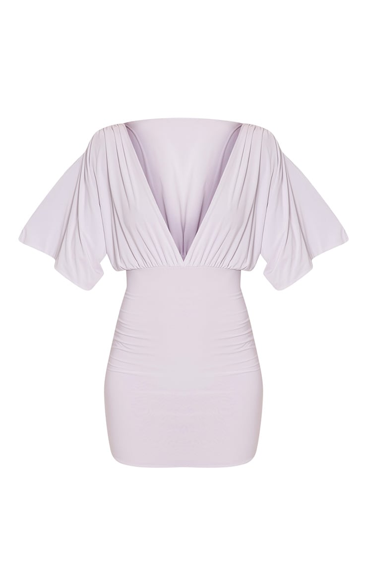 Eda White Kimono Sleeve Bodycon Dress 6