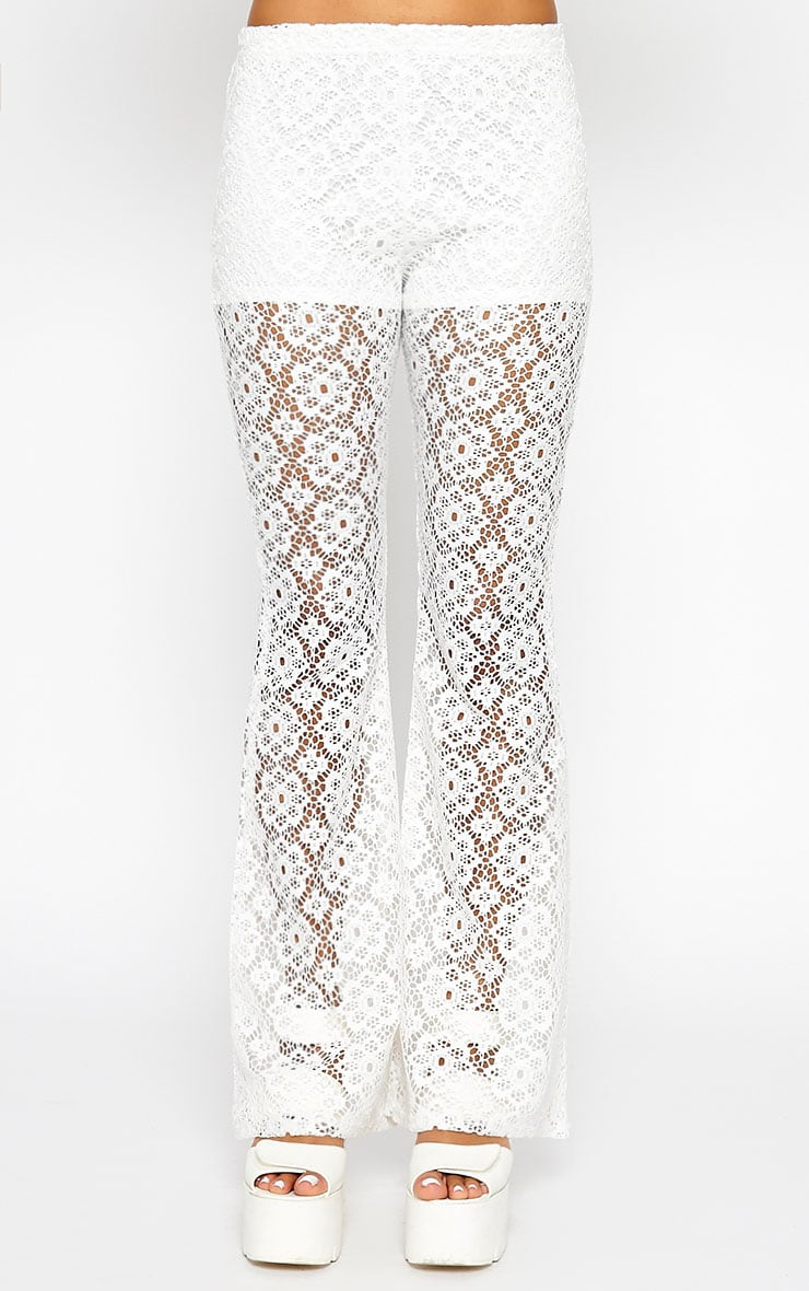 Natalia Cream Crochet Trousers 3