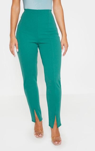 Emerald Green Split Front Trouser