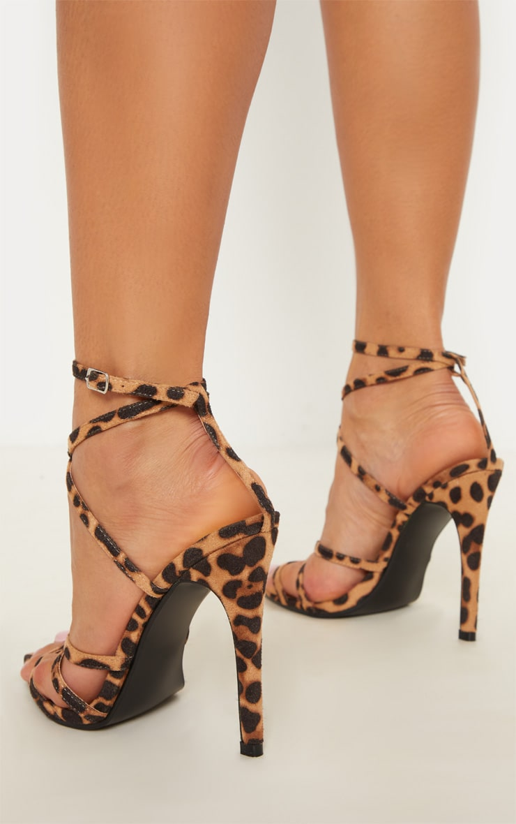 Leopard Print Point Toe Strappy Sandal 2