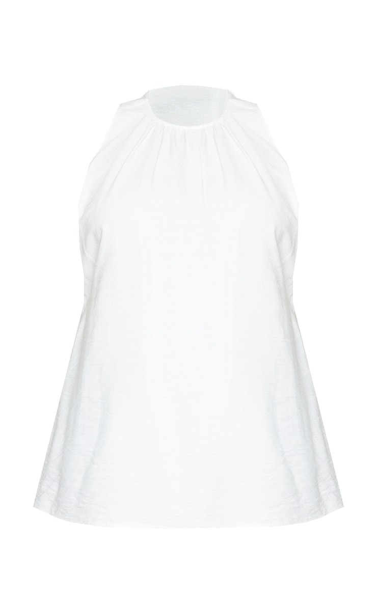 Plus White Cut Out Back Swing Top 5