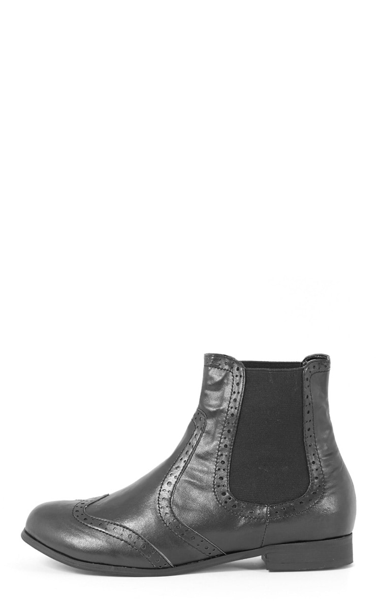 Glenna Black Chelsea Boot  1