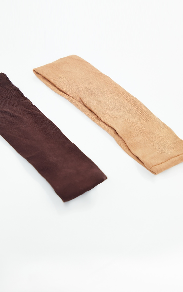 Tan And Brown 2 Pack Basic Headband 3