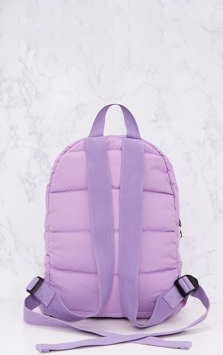 PrettyLittleThing Lilac Backpack 4