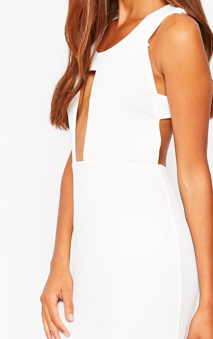 Brandy Cream Plunge Maxi Dress 4