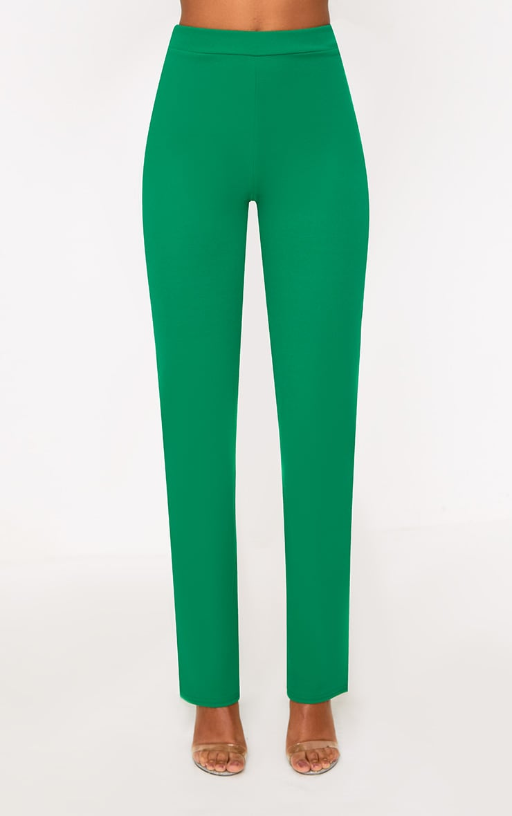 Green Straight Leg Suit Trousers 2