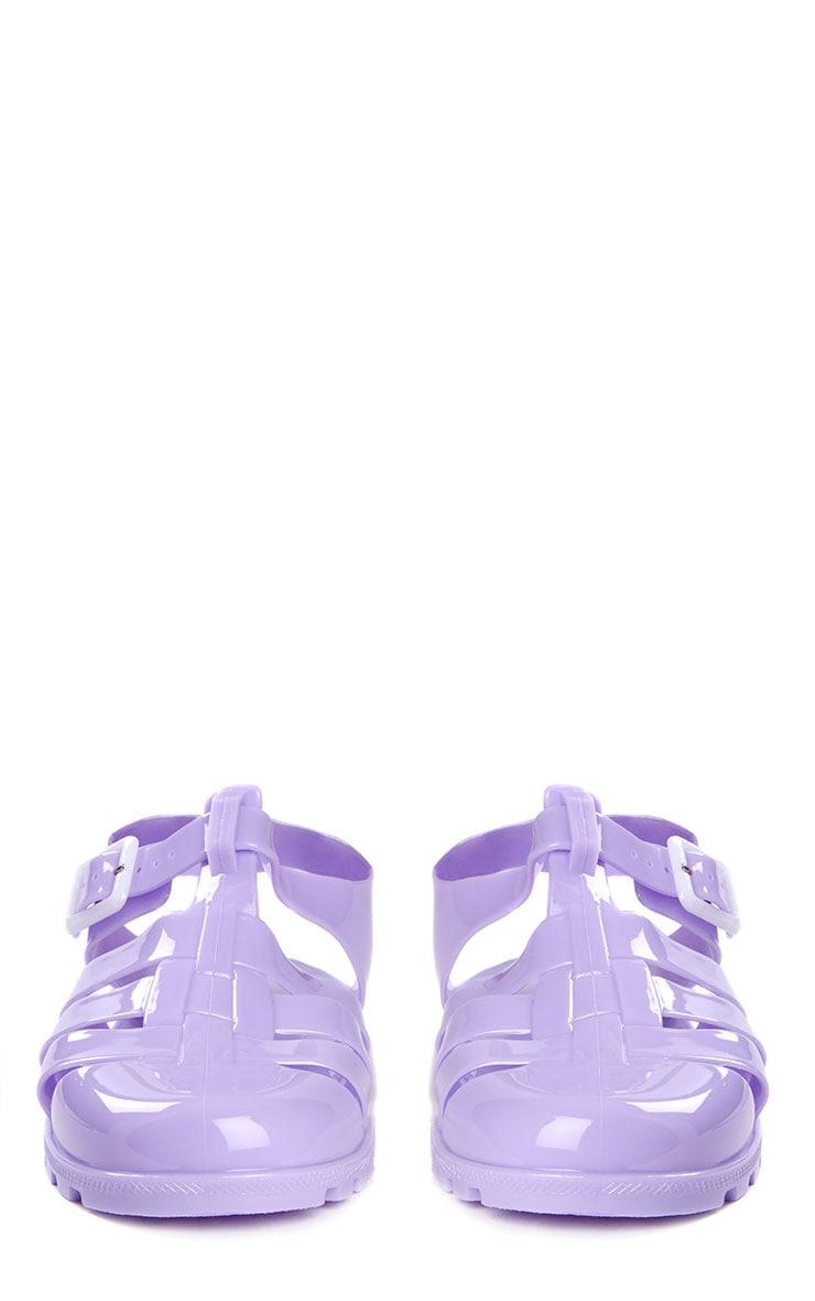 Raida Lilac Flat Jelly Sandals 4