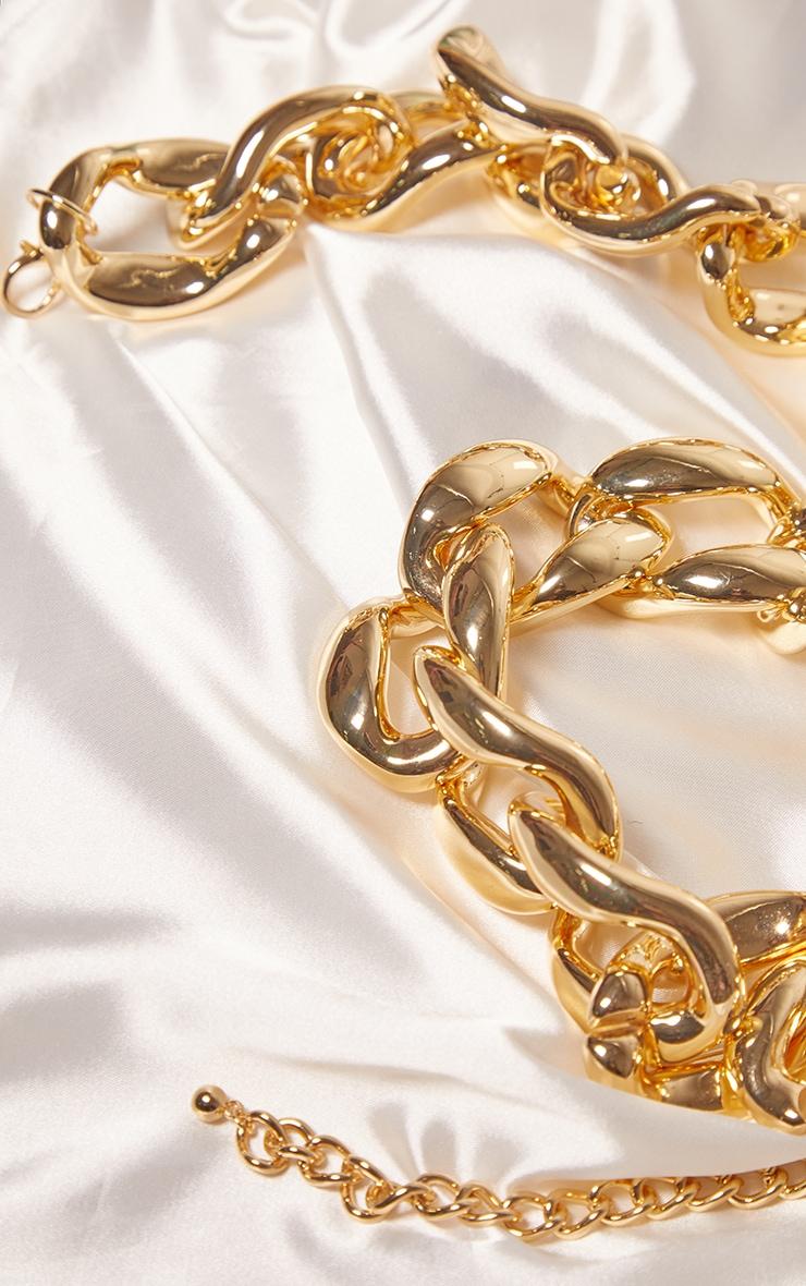 Gold Oversized Chunky Chain Waist Belt 3