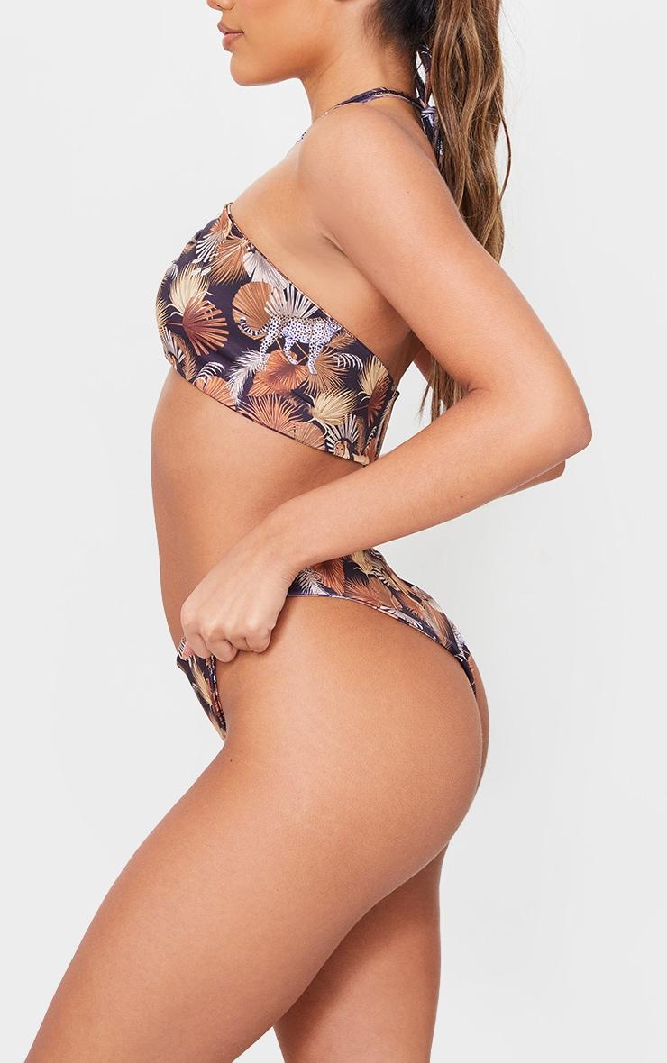 Mixed Animal Print Bikini Bottoms 2