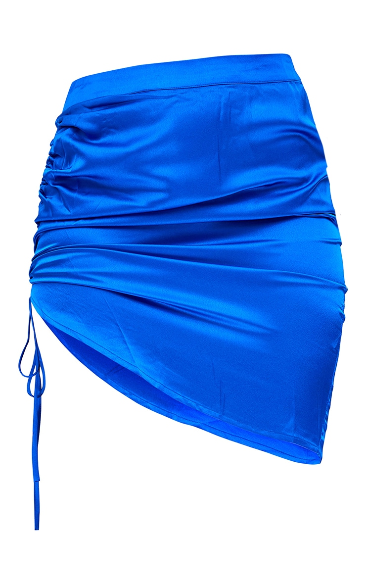 Cobalt Front Ruched Mini Skirt 6