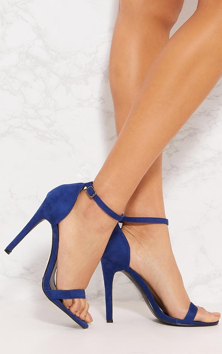 Cobalt Heeled Strappy Sandal