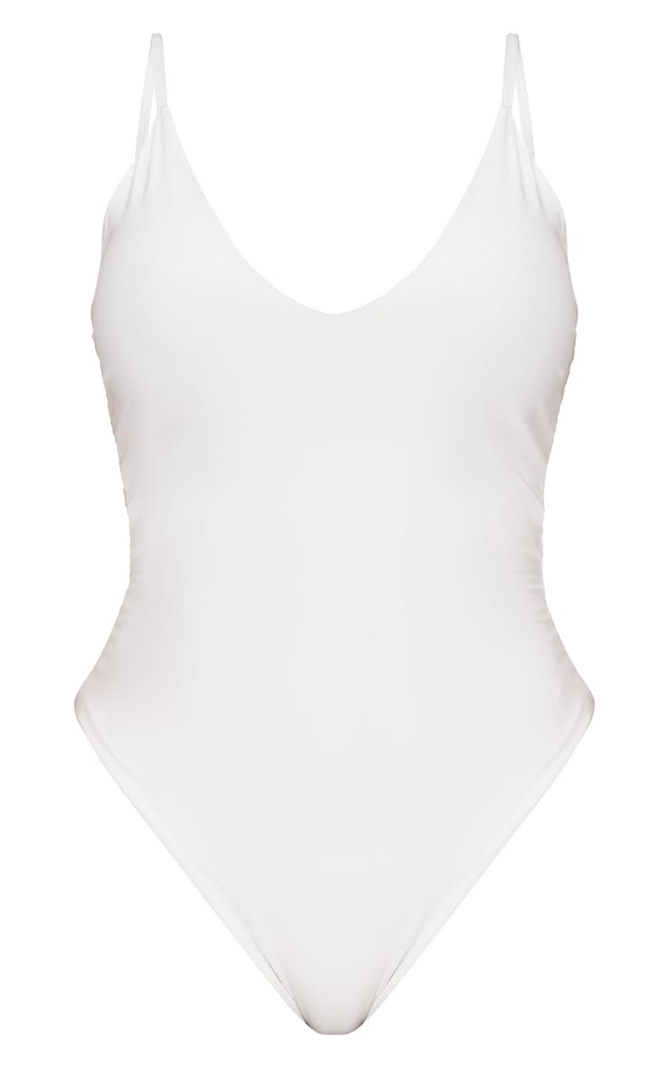 Shape White Slinky Double Layer Bodysuit 3
