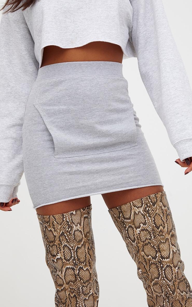 Grey Sweat Pocket Mini Skirt 6