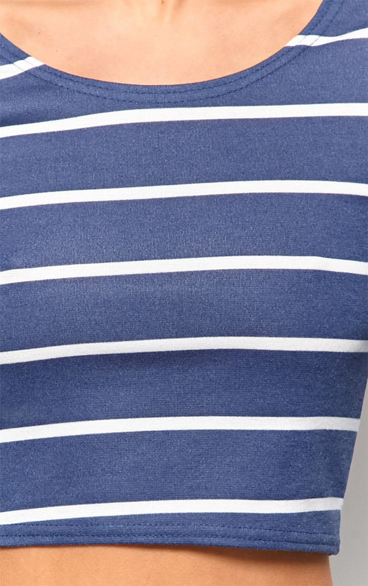 Kennedy Blue Premium Striped Crop Top  4