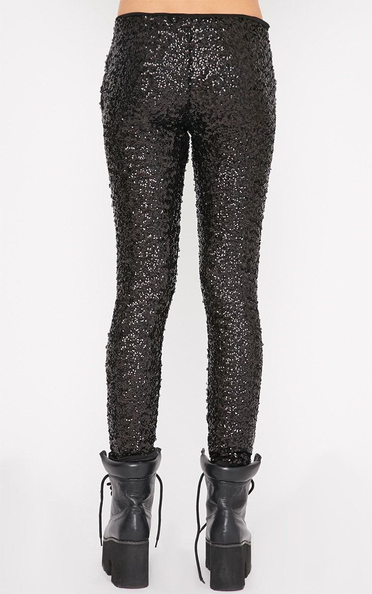 Maggie Black Sequin Legging 2