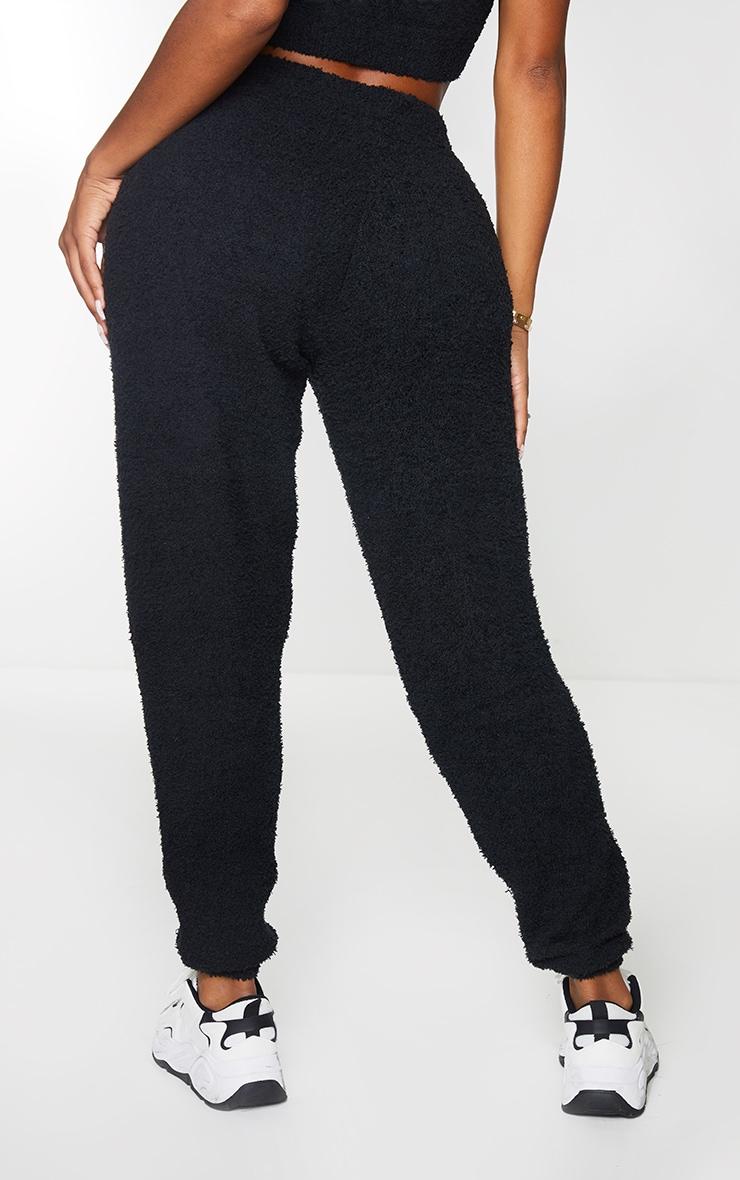 Shape Black Fluffy Knit Joggers 3