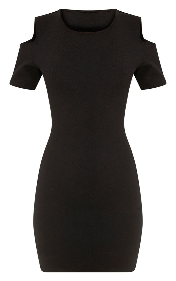 Alarnia Black Cold Shoulder Bodycon Dress 3