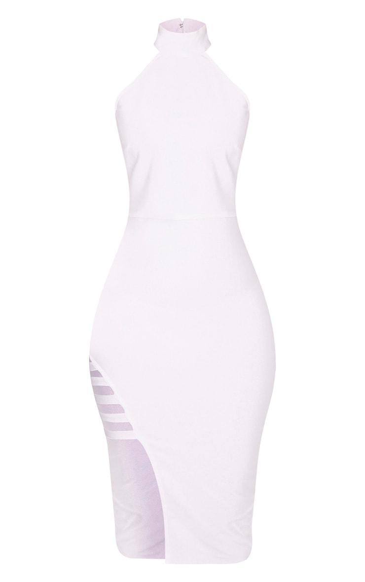 Dacia Premium robe midi blanche à col montant bandage 3