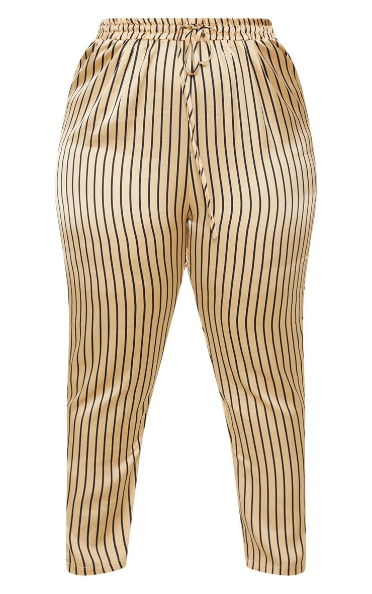 Plus Stone Stripe Casual Trousers 3