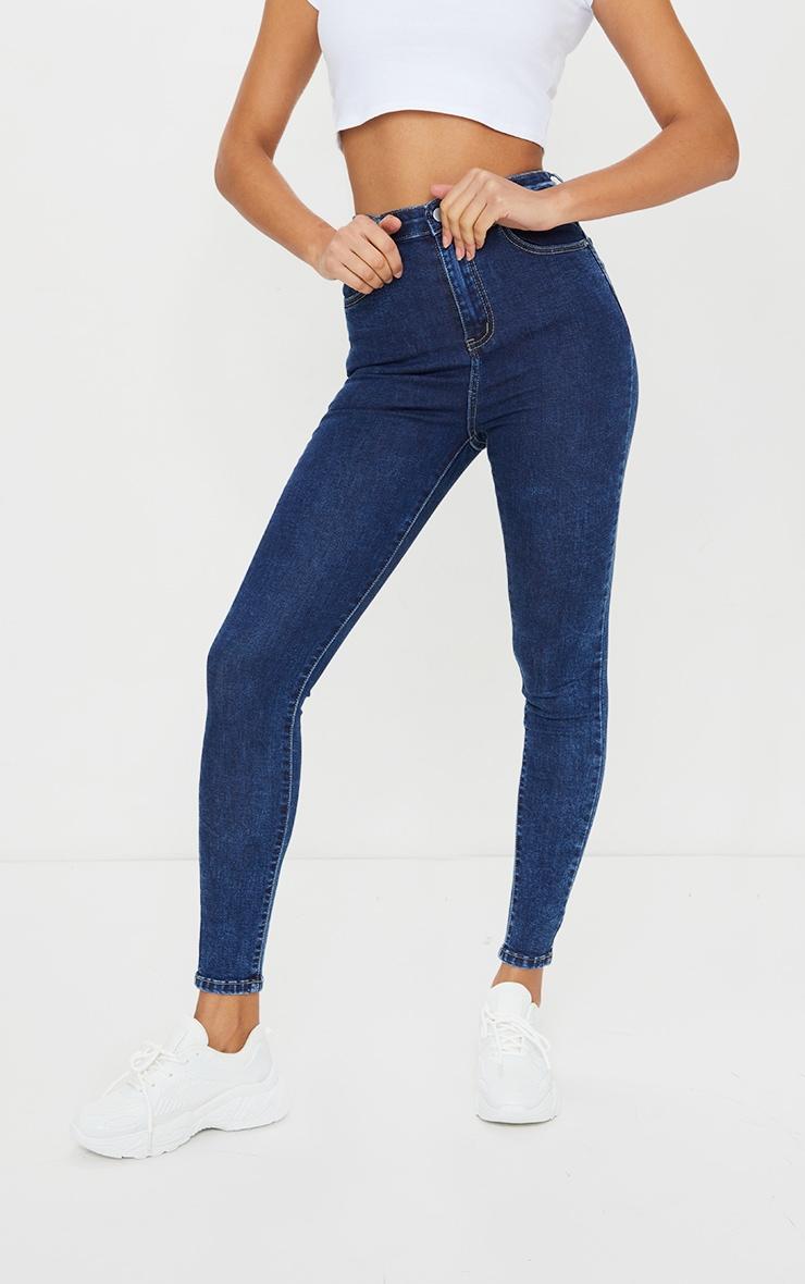 PRETTYLITTLETHING Washed Indigo 5 Pocket Skinny Jeans 2