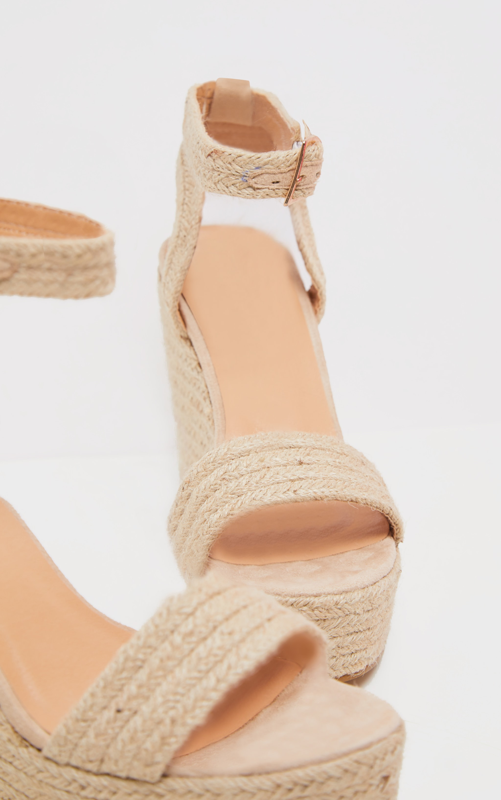 Natural Espadrille Wedge Sandal 4