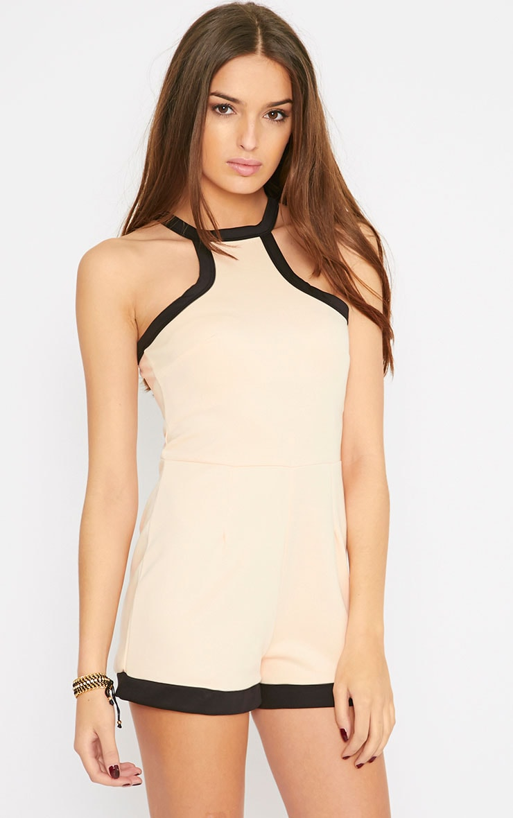 Jennifer Nude Racer Front Playsuit  1