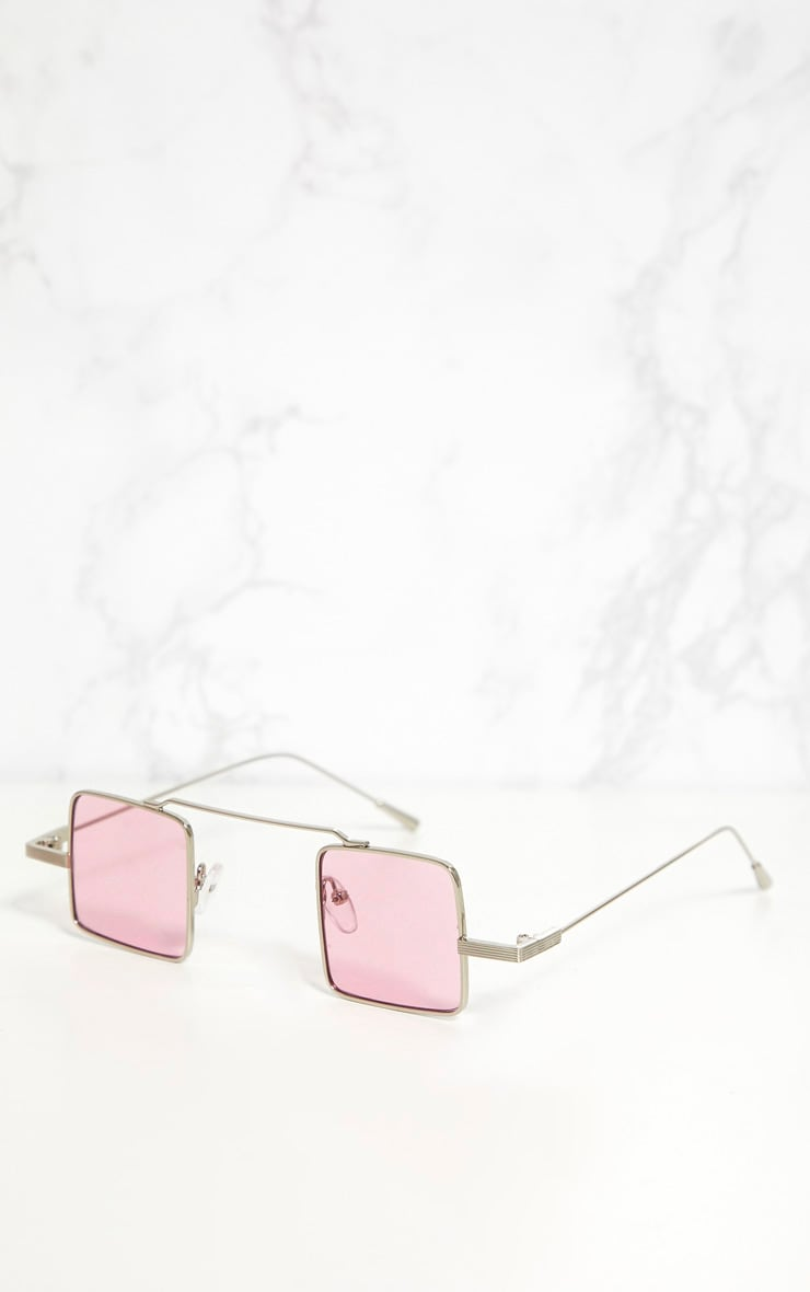 Pink Small Square Sunglasses 1