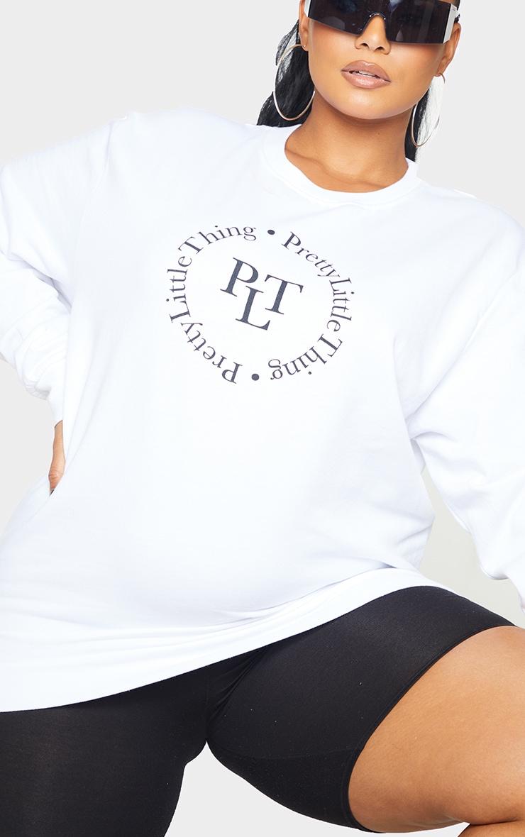 PRETTYLITTLETHING Plus Cream Sweatshirt 4