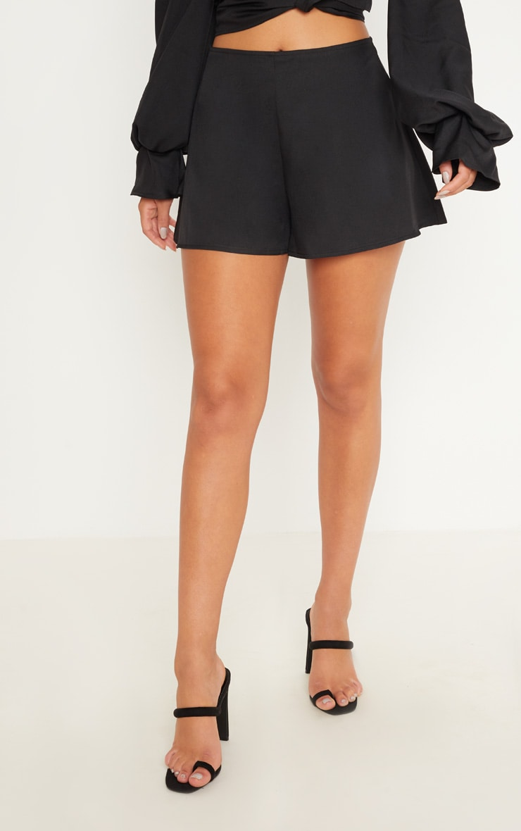 Black Floaty Shorts 2