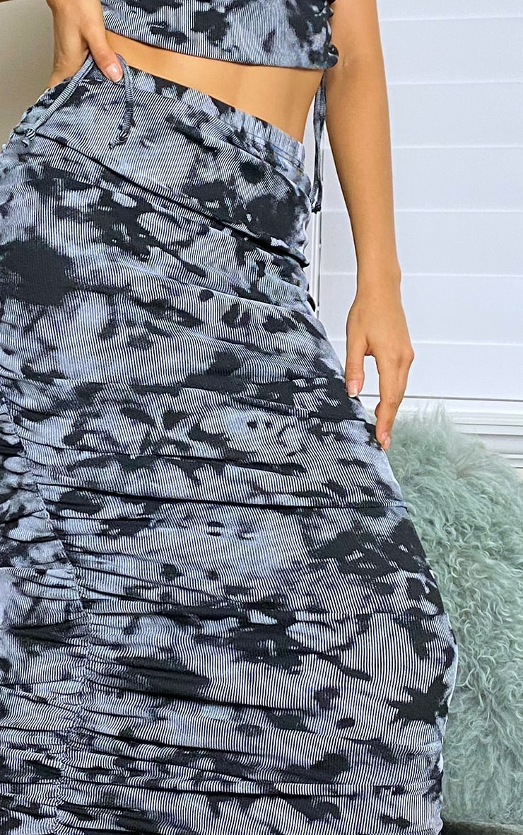 Tall Grey Ruched Midaxi Skirt 4