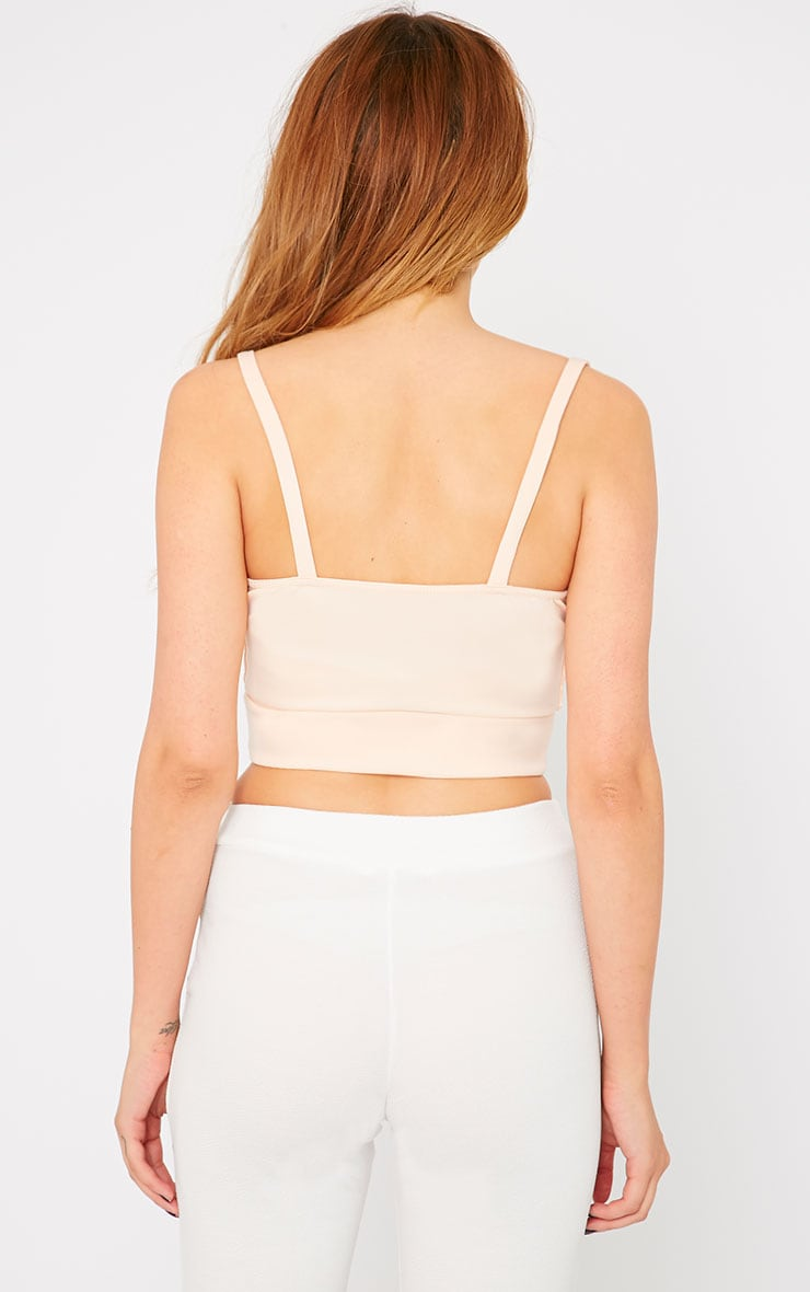 Mia Nude Lace Wrap Front Bralet  2