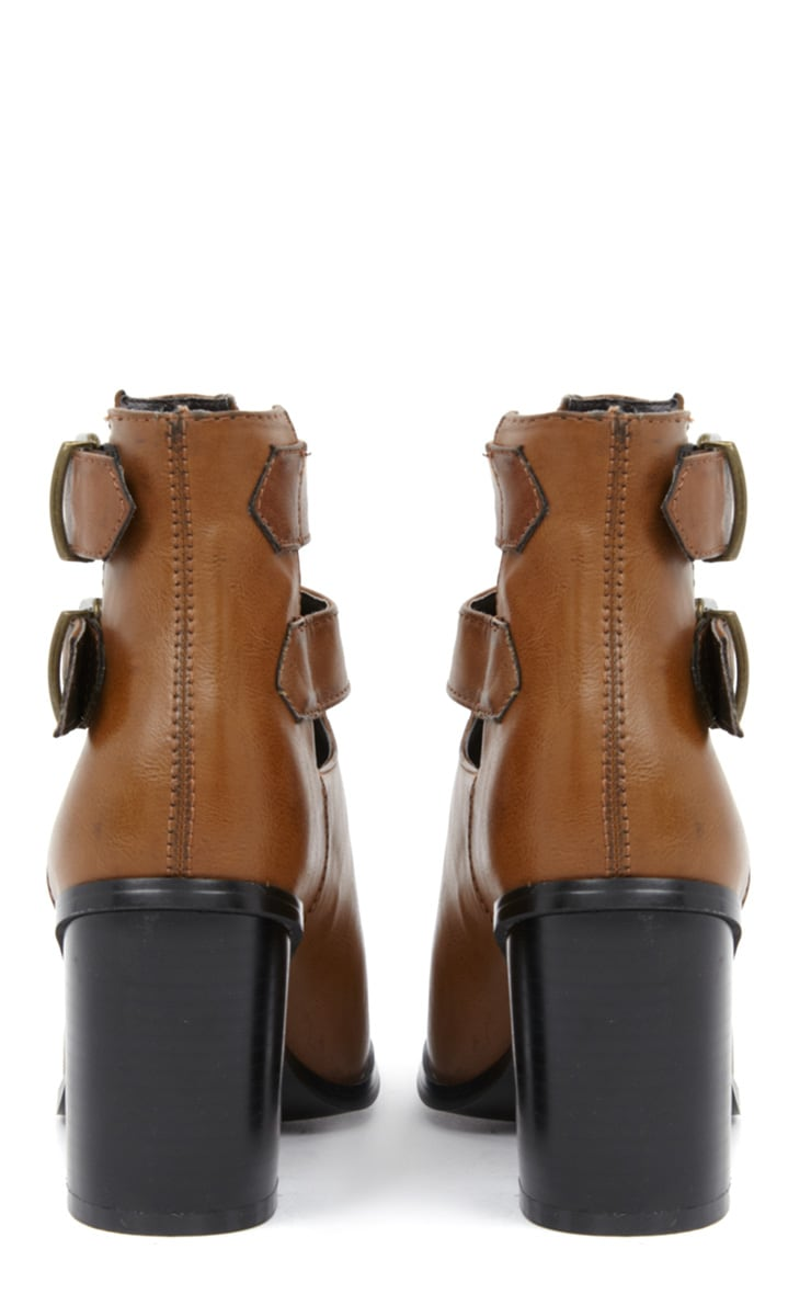 Corin Tan Leather Cut Out Boots  4