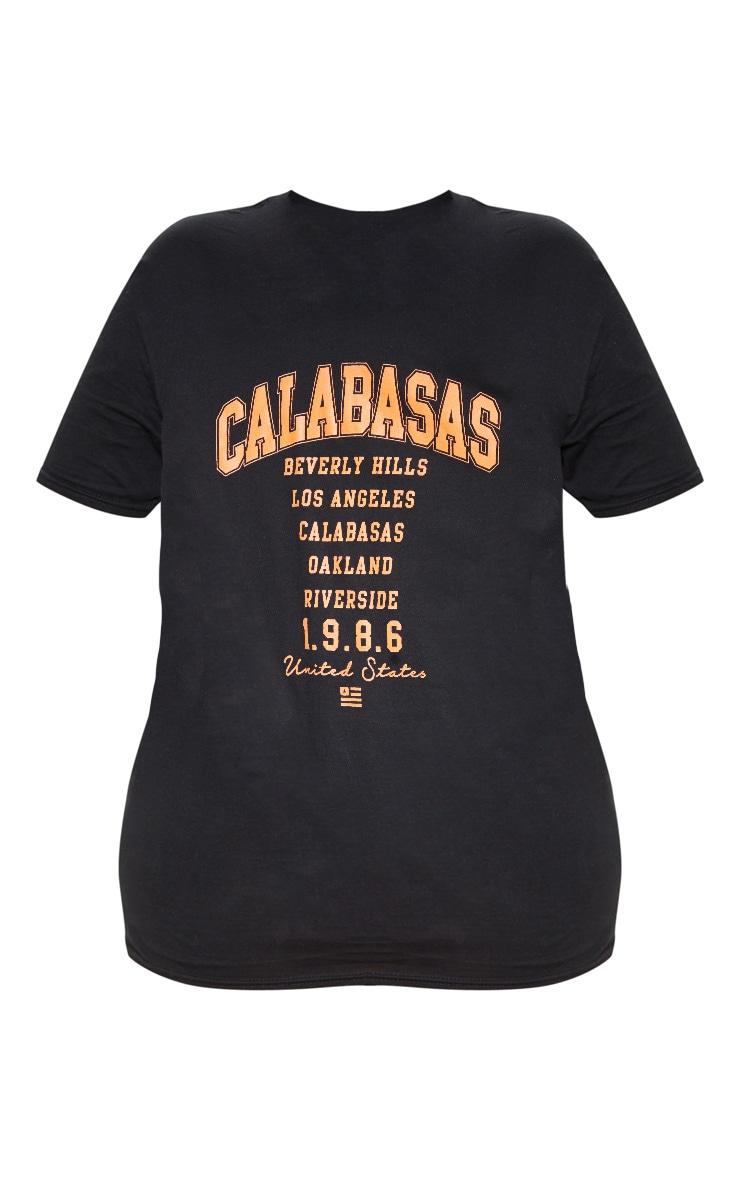 Plus Black Calabasas 1986 Slogan Oversized T Shirt 4