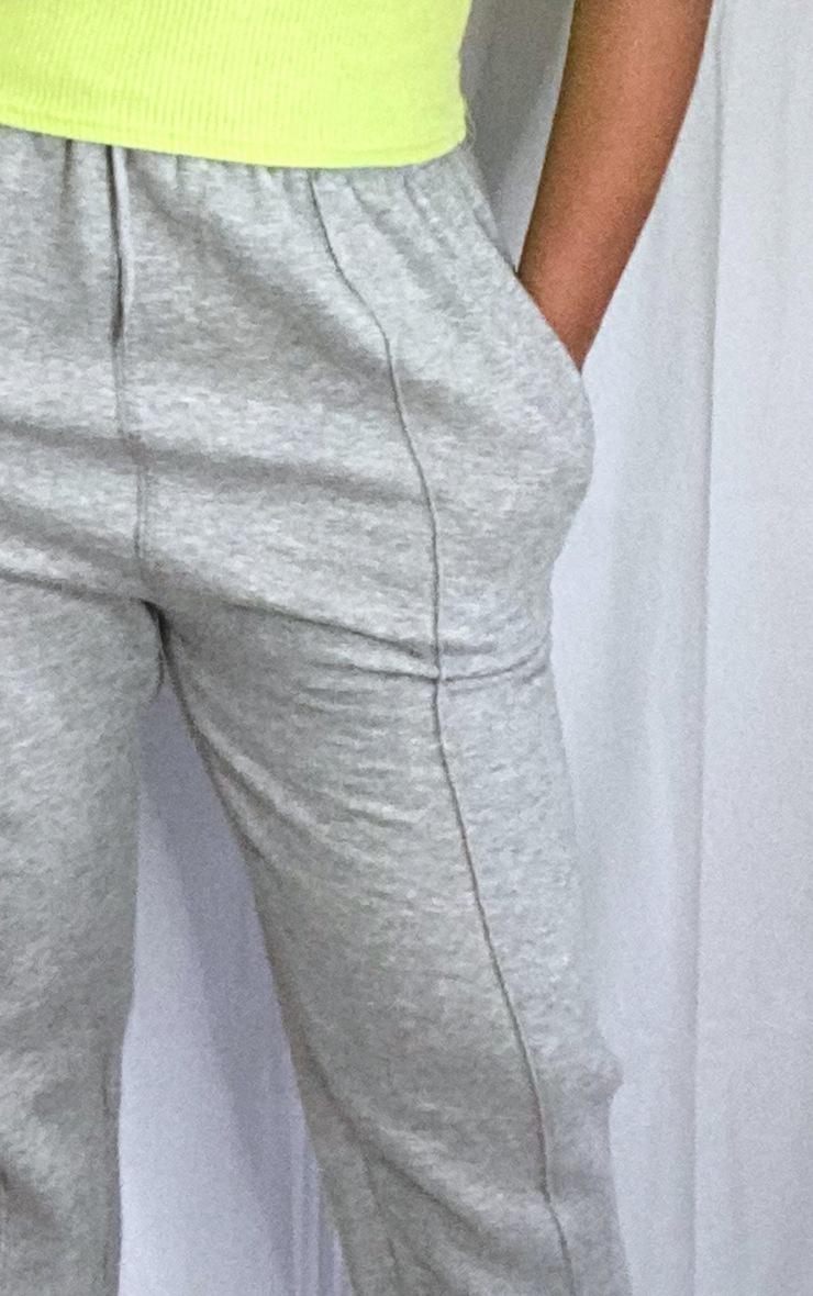 Plus Grey Seam Detail Waist Cuff Hem Joggers 4