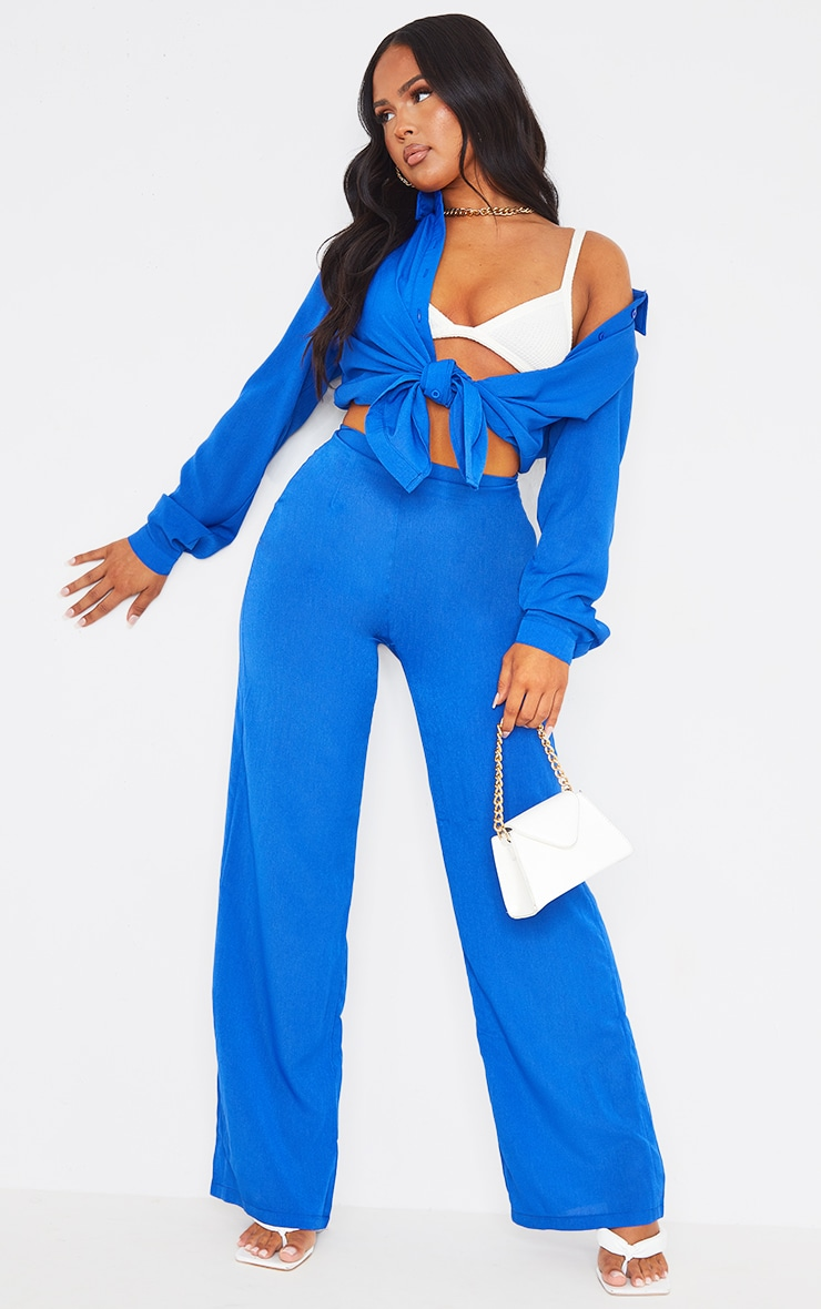 Blue Wide Leg Pants 1