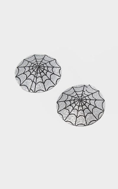 Glitter Cobweb Nipple Covers