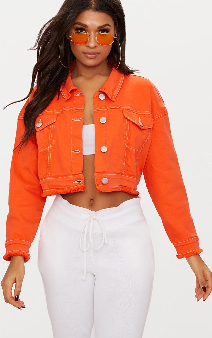 Petite veste jean courte
