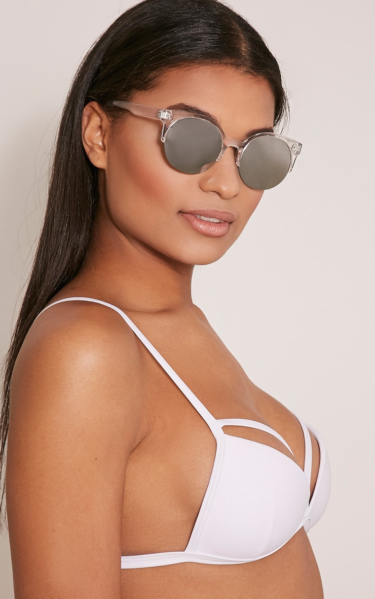Olie Clear Retro Framed Sunglasses 2